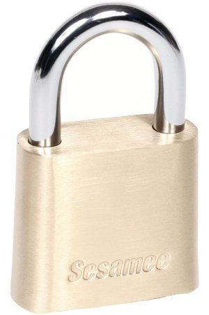 sesamee k436 4 dial bottom- esettable combination brass padlock