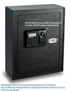 Viking security 12bl biometric fingerprint wall safe